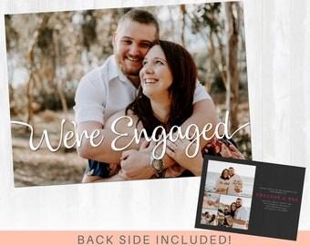 Engagement Announcement, Engagement Party Invite, Engagement Party Invitation, Engagement Card, We're Engaged Card, Engagement Pictures Card