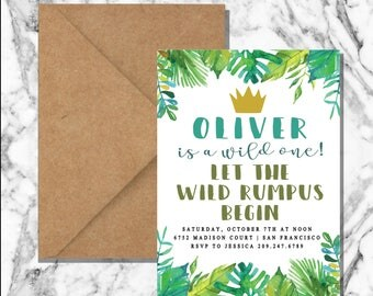 Where the Wild Things Are invitation (digital)