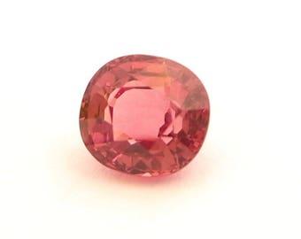 Rose Malaya Garnet - Stunning 2.78 Carat weight Oval precision cut gemstone