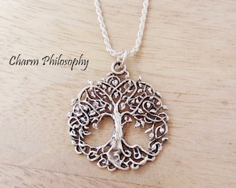 Tree of Life Necklace - Unique Tree Pendant - 925 Sterling Silver Jewelry - Family Tree