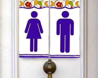 Italian bathroom Signs. toilet sign, bathroom, toilet plaque, door sign, ceramic toilet plaque, mens room, bathroom decor, ladies room, sign