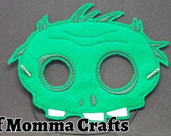Zombie Plant Fighter Childs Felt Mask