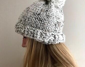 Oreo Pompom Hat