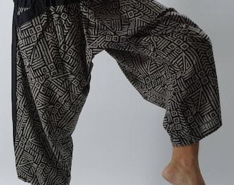 HC0436 Samurai Pants, elsstic waist Samurai Pants Unisex Elastic Waist , ninja pants