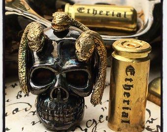 Skull Ring Medusa Ring Medusa Snake Ring Ancient Greek Ring Mythology Ring Skull and Snake Ring Skull Snake Ring Medusa Skull Ring Medusa