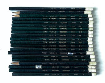 Vintage Venus drawing pencils lot artists drafting supply set