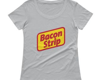 Bacon Strip Seattle Ladies' Scoopneck T-Shirt