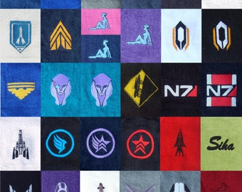 Mass Effect Themed Bath Towels