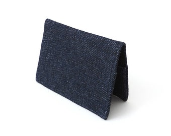 Denim Fold Wallet Slim Minimalist Wallet