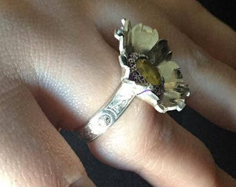 The Silver Flower Ring