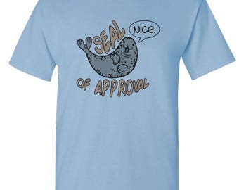 SEAL of APPROVAL - t-shirt short or long sleeve your choice! all sizes many colors