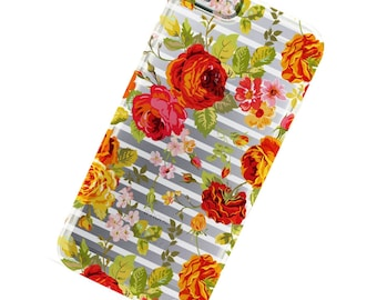 Striped flowers Floral Phone Case, iphone 6, iphone 6 Plus, iphone 7, iphone 7 Plus, iPhone SE, iPhone 5, Iphone 5c, Galaxy S6, Galaxy S7