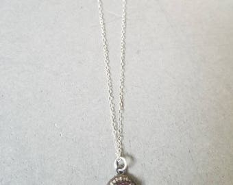 Tourmaline and diamond necklace on sterling silver
