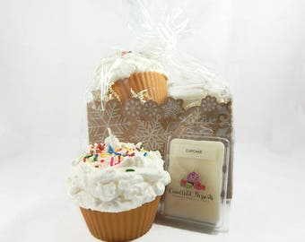 Jumbo Cupcake With Sprinkles Candle & Wax Melt Gift Set