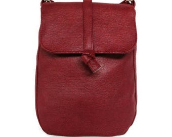 Red shoulder bag - bordeaux red bag - crossbody bag