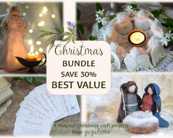 Christmas BUNDLE**BEST VALUE**30 percent off*Christmas craft*Tree topper Angel*Free 24 Advent Activity cards*Dancing Angels*Waldorf Inspired