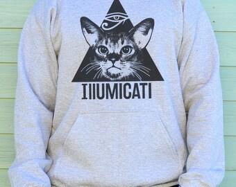 Cat Sweater, Cat Print Hoodie, Funny Cat Sweatshirt, Hooded Cat Sweater, Cat Hoodies, Cat Print Sweatshirt, Cat Print Hoodie