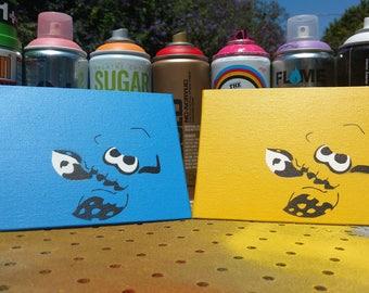 Custom Splatoon miniature paintings
