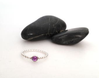 Amethyst Solataire Ring