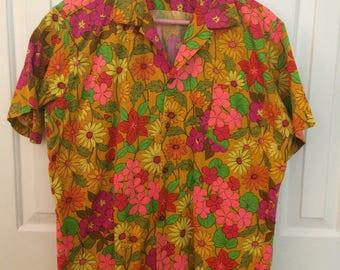 The Sample Shop Hawaiian shirt/Vintage Hawaiian shirt/Psychedelic Hawaiian Shirt