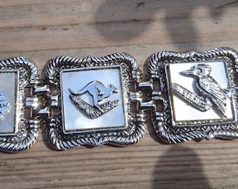 Vintage Australian mother of pearl souvenir bracelet