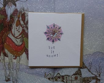 Let it Snow Special Shimmer Christmas Card