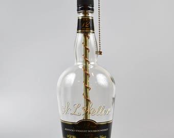 Weller 12 year Bourbon Bottle Lamp/handmade/ man cave/light/bourbon lamp/bottle light/liquor/bar/gifts for men/whiskey/whiskey bottle lamp