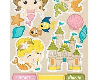 imaginisce Mermaid Birthday Stickers