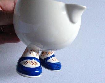 Rare Vintage Carltonware coupe Carlton marche ware pot à lait avec rare à trouver chaussures bleues