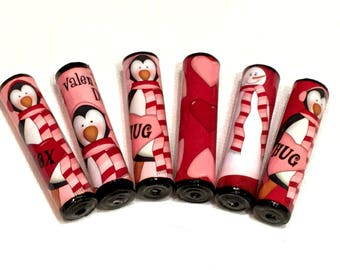 Valentine Paper Bead Set Handmade Beads for Pens and other Beadable Products