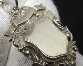 Antique  Sterling Silver Albert Watch Chain Fob Medal by Robert Pringle