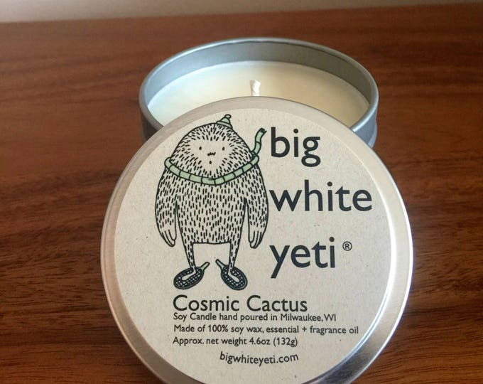 Cosmic Cactus Soy Candle- 6 Ounce Tin