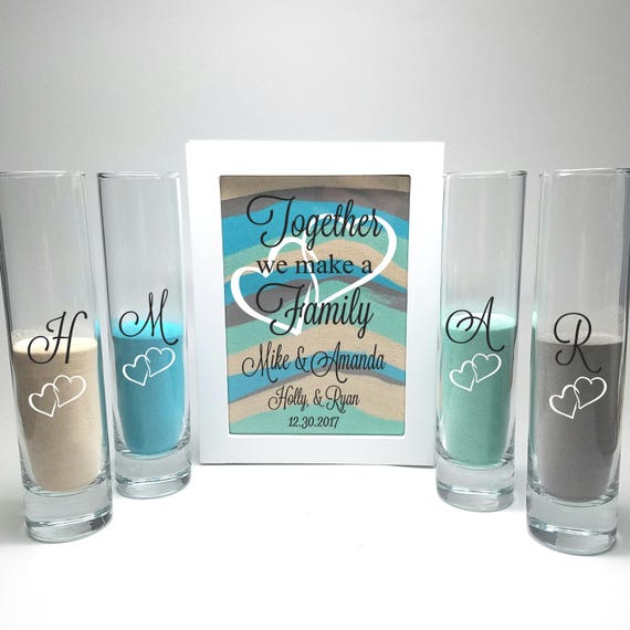Blended Family Wedding Sand Ceremony Shadow Box Set Unity
