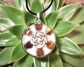 Tiger's Eye Orgone Pendant - Celtic Knot - Solar Plexus Chakra - Empath Jewelry - Orgone Necklace - Medium