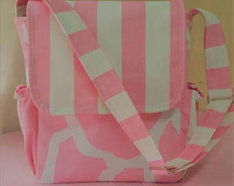 Small Messenger Diaper Bag Stripe//for baby girl!!