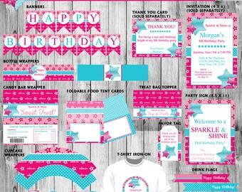 American Birthday Girl - Printable Party Pack