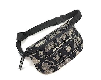 campfire fanny pack , gifts for him,  gifts under 30 , bum bag , belly bag , festival wear, festival fanny pack , gifts for dudes , belt bag