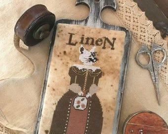 Pattern: Cross Stitch - Miss Linette Lynn Linen  by The Primitive Hare