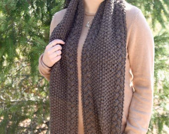 Specialty XL scarf w/ border braids