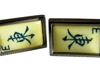 Mahjong 'East Wind' Cufflinks from an original image