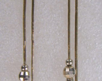 Italian Sterling Dangle Disco Ball Pierced Earrings