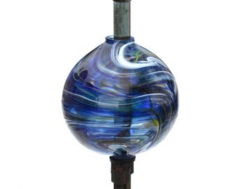 Hand Blown New Lightning Rod Glass Ball, Weathervane Ball 2B