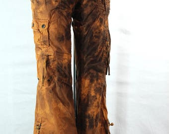 Tie Dye Upcycled Guess Ladies Cargo Pants