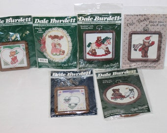 Lot of 6 Dale Burdett Country Cross Stitch kits All sealed Vintage kits 1980's