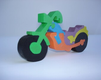 Puzzle motorcycle Chopper 7 pieces