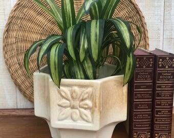 Midcentury White Ceramic Haeger Planter,