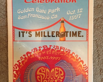 Summer of Love 30th Anniversary Miller Time poster