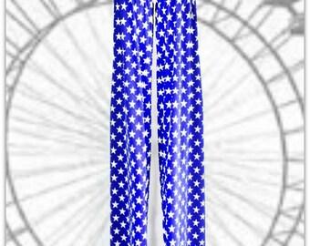 Stilt Pants in Blue and White Star Print Stilting Costume Stilt Covers