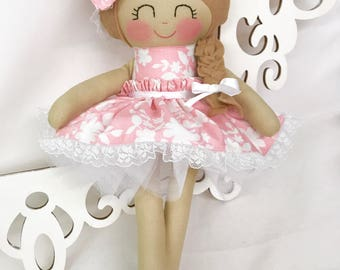 Handmade Doll- Fabric Doll- Girl Birthday Gift