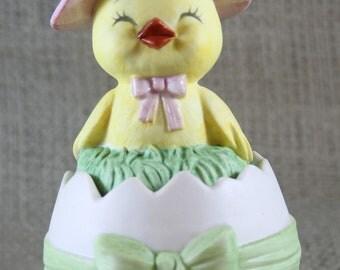 Vintage Lefton Chick Trinket Box